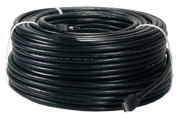 Blueqon 50 meter HDMI kabel met versterker huren